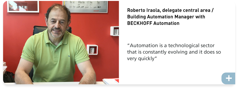 Roberto Iraola, delegate central area / Building Automation Manager with BECKHOFF Automation